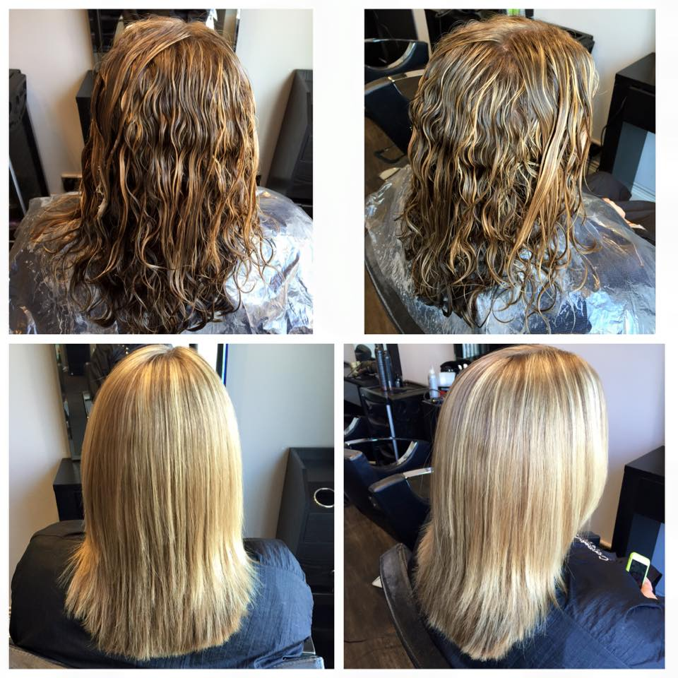 Momoko straighten and smooth Carmelo Alessi Hairdressing Stony Stratford