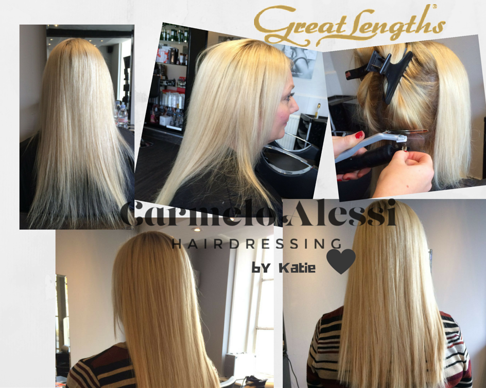 Great Lengths hair extensions carmelo alessi hairdressing stony stratford milton keynes by Katie